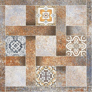 Digital Porcelain Tiles | 600x600 mm | Rustic Finish |